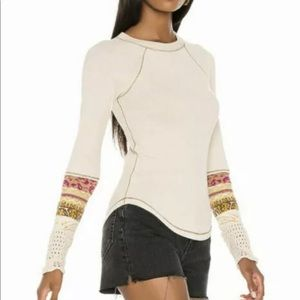 🤞HP👏 NWT FP InThe Mix Cuff Thermal Linen Combo